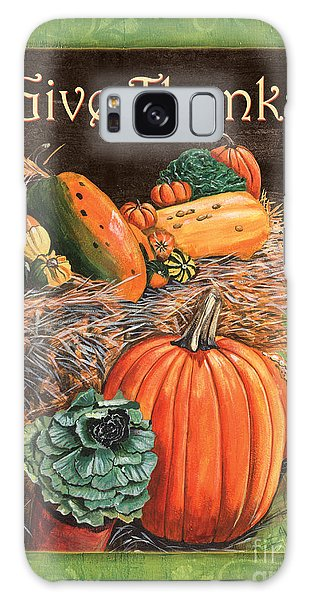 Pumpkin Galaxy S8 Case - Give Thanks by Debbie DeWitt