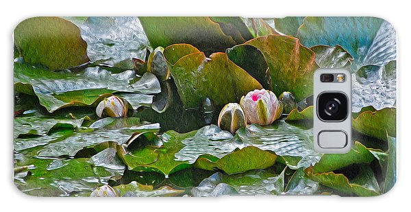 Giverny Early Lilies Galaxy Case