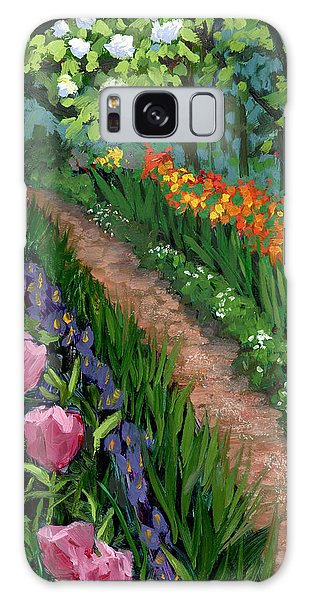 Giverny Garden Galaxy Case by Alice Leggett