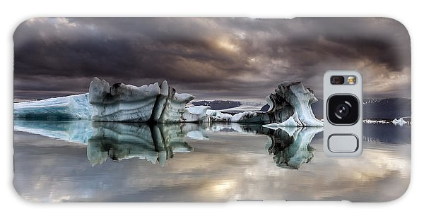 Glacier In Water Galaxy Case by Gunnar Orn Arnason