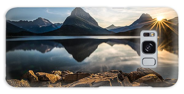 Glacier National Park Galaxy Case by Larry Marshall