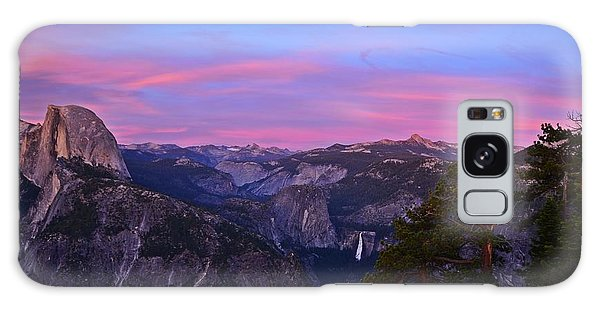 Glacier Point With Sunset And Moonrise Galaxy Case