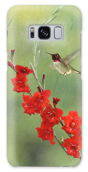 Glad Hummingbird Galaxy Case