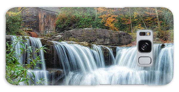 Glade Creek Grist Mill And Waterfalls Galaxy Case