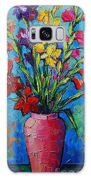 Gladioli In A Vase Galaxy Case