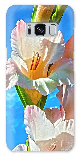 Galaxy Case featuring the photograph Gladiolus by Heiko Koehrer-Wagner