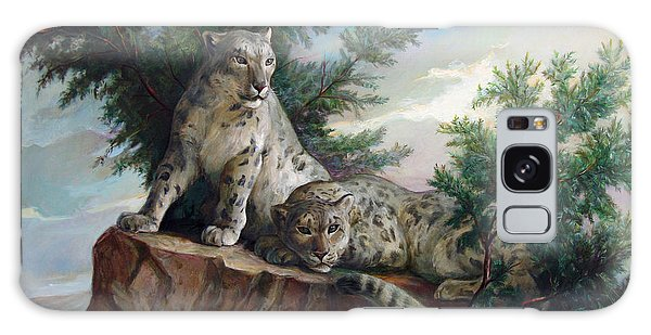 Glamorous Friendship- Snow Leopards Galaxy Case