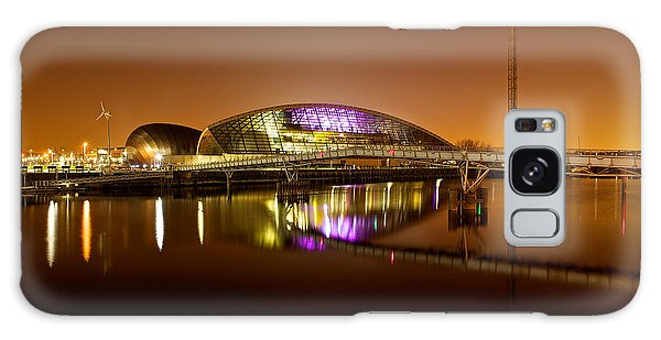 Glasgow Science Centre On A Tofee Coloured Sky Galaxy Case by Stephen Taylor