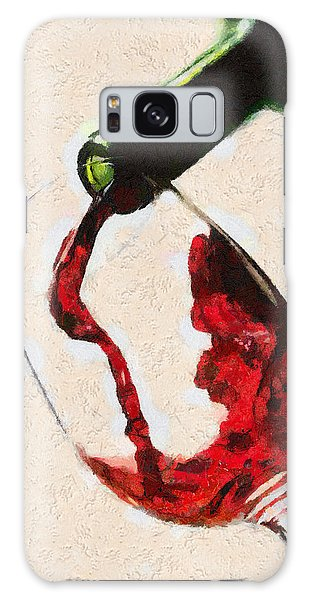 Glass Of Red Wine Galaxy Case