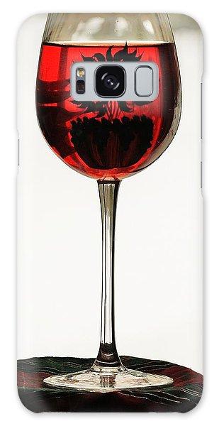 Glass Of Wine... Galaxy Case by Al Fritz