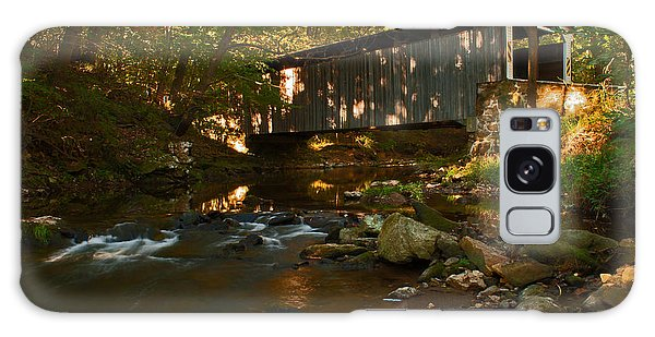 Glen Hope Covered Bridge Galaxy Case by Michael Porchik