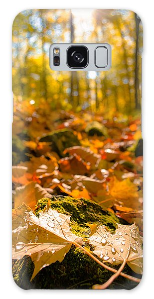 Glistening Autumn Dew Galaxy Case