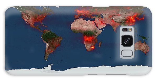 Earth From Space Galaxy Case - Global Nitrogen Dioxide Levels by Nasa/goddard Space Flight Center/science Photo Library