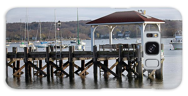 Gloomy Day Northport Dock Long Island New York Galaxy Case