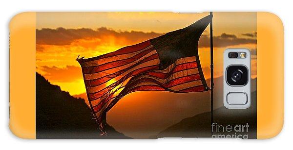 Glory At Sunset Galaxy Case by Michael Cinnamond