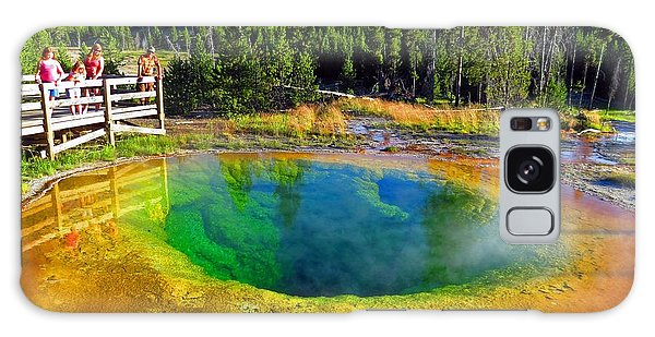 Glory Pool Yellowstone National Park Galaxy Case by Ausra Huntington nee Paulauskaite
