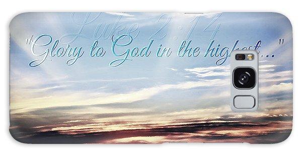 Glory To God Galaxy Case by Sharon Soberon