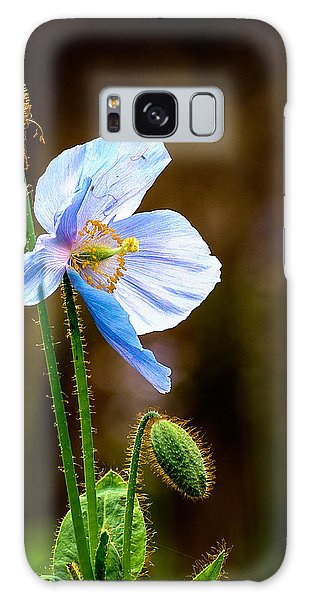 Glowing Blue Poppy Galaxy Case