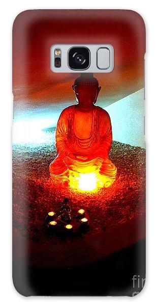 Glowing Buddha Galaxy Case by Linda Prewer