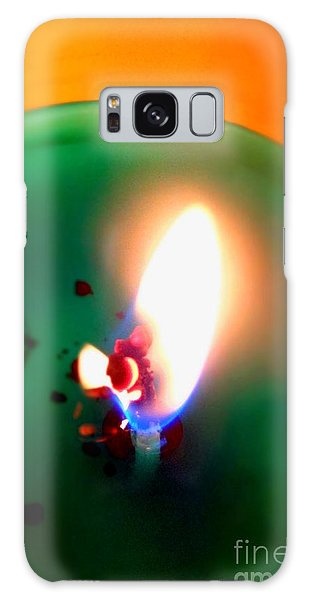 Glowing Candle Wick Galaxy Case by Justin Moore