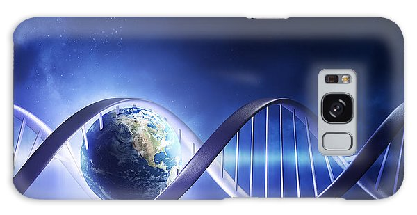 Glowing Earth Dna Strand Galaxy Case