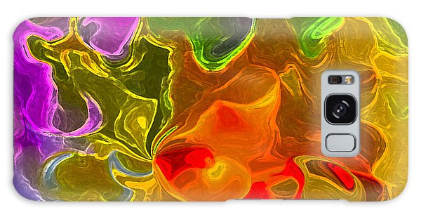 Glowing Edges  Galaxy Case by Gayle Price Thomas