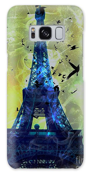 Glowing Eiffel Tower Galaxy Case