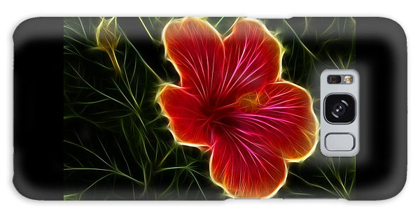 Glowing Hibiscus Galaxy Case