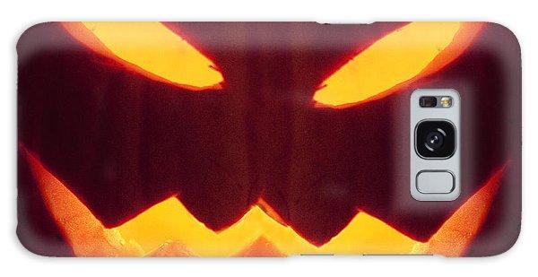 Glowing Pumpkin Galaxy Case