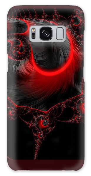 Glowing Red And Black Abstract Fractal Art Galaxy Case by Matthias Hauser