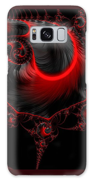Glowing Red And Black Abstract Fractal Art Galaxy Case