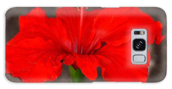 Glowing Red Hibiscus Galaxy Case