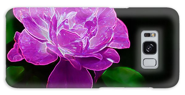 Glowing Rose II Galaxy Case