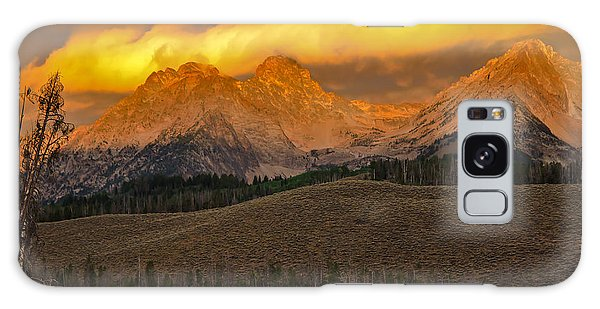 Haybale Galaxy Case - Glowing Sawtooth Mountains by Robert Bales