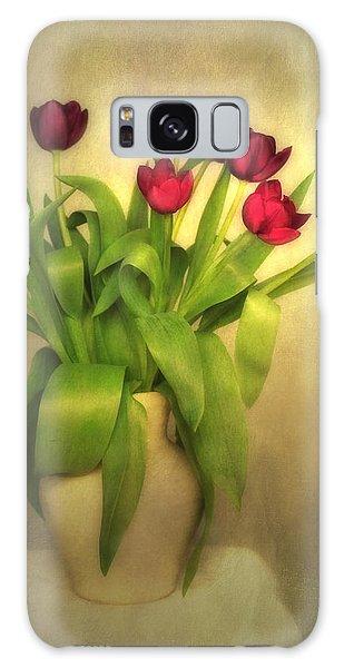 Glowing Tulips Galaxy Case