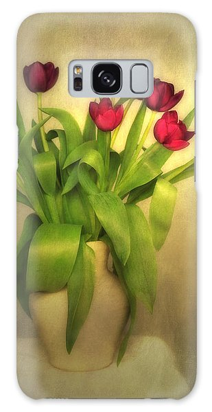 Glowing Tulips Galaxy Case