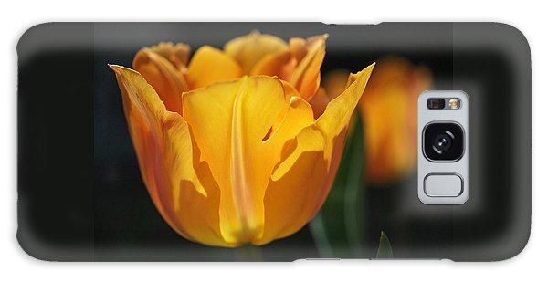 Glowing Tulips Galaxy Case by Rona Black