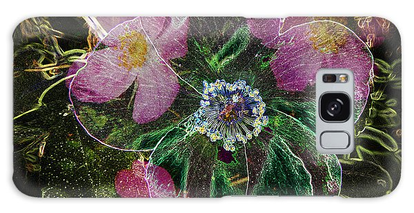 Glowing Wild Rose Galaxy Case by Penny Lisowski