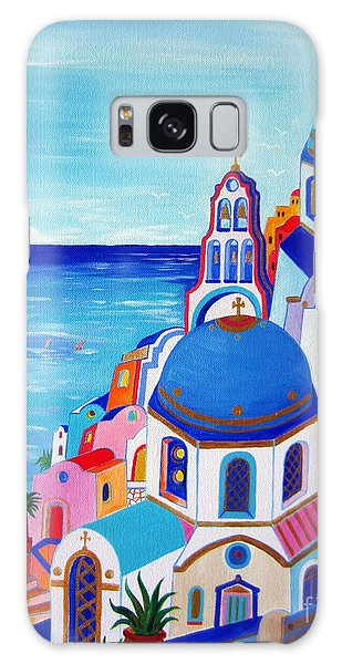 go to Santorini now Galaxy Case by Roberto Gagliardi