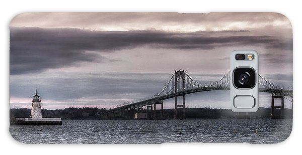 Goat Island Lighthouse And Newport Bridge Galaxy Case by Joan Carroll