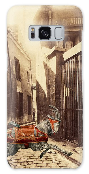 Goat On Passage De La Reunion Paris Collage Galaxy Case