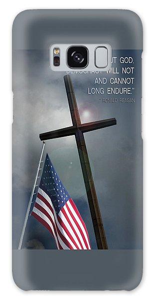 God And Democracy Galaxy Case by Bob Pardue