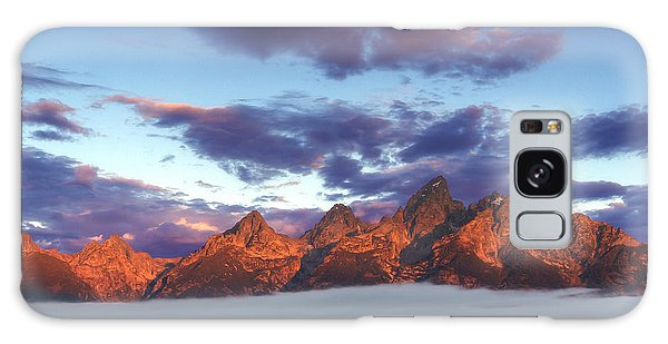 Teton Range Galaxy Case - God Morning Tetons by Marco Crupi