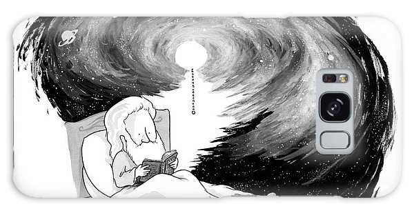 God Reads In Bed Galaxy Case
