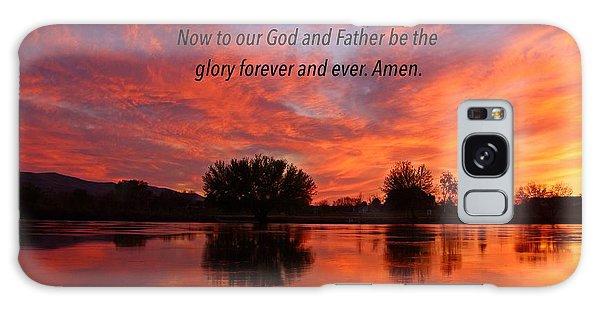 God's Glory Galaxy Case by Lynn Hopwood
