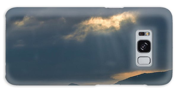 Gods Morning Rays Galaxy Case by Eva Thomas
