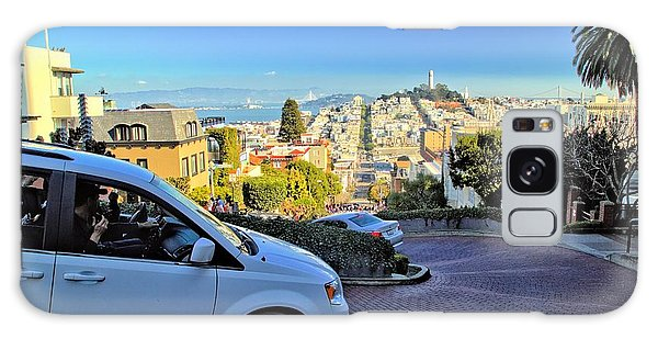 Going Down Lombard Street Galaxy Case
