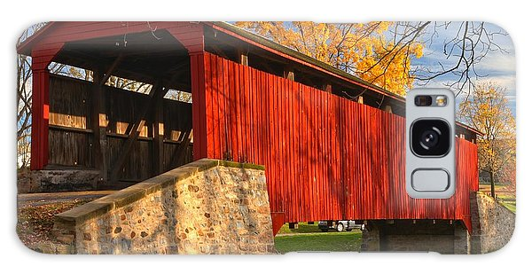 Gold Above The Poole Forge Covered Bridge Galaxy Case