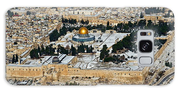 Gold And White In Jerusalem. Galaxy Case