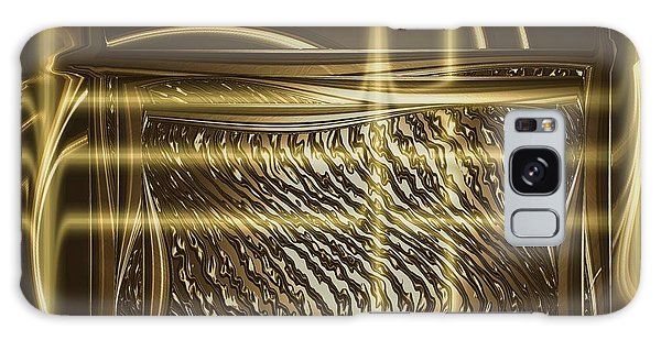 Gold Chrome Abstract Galaxy Case